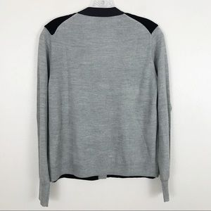 J. Crew Sweaters - J. Crew Harlow Black Velvet Front Cardigan Sweater